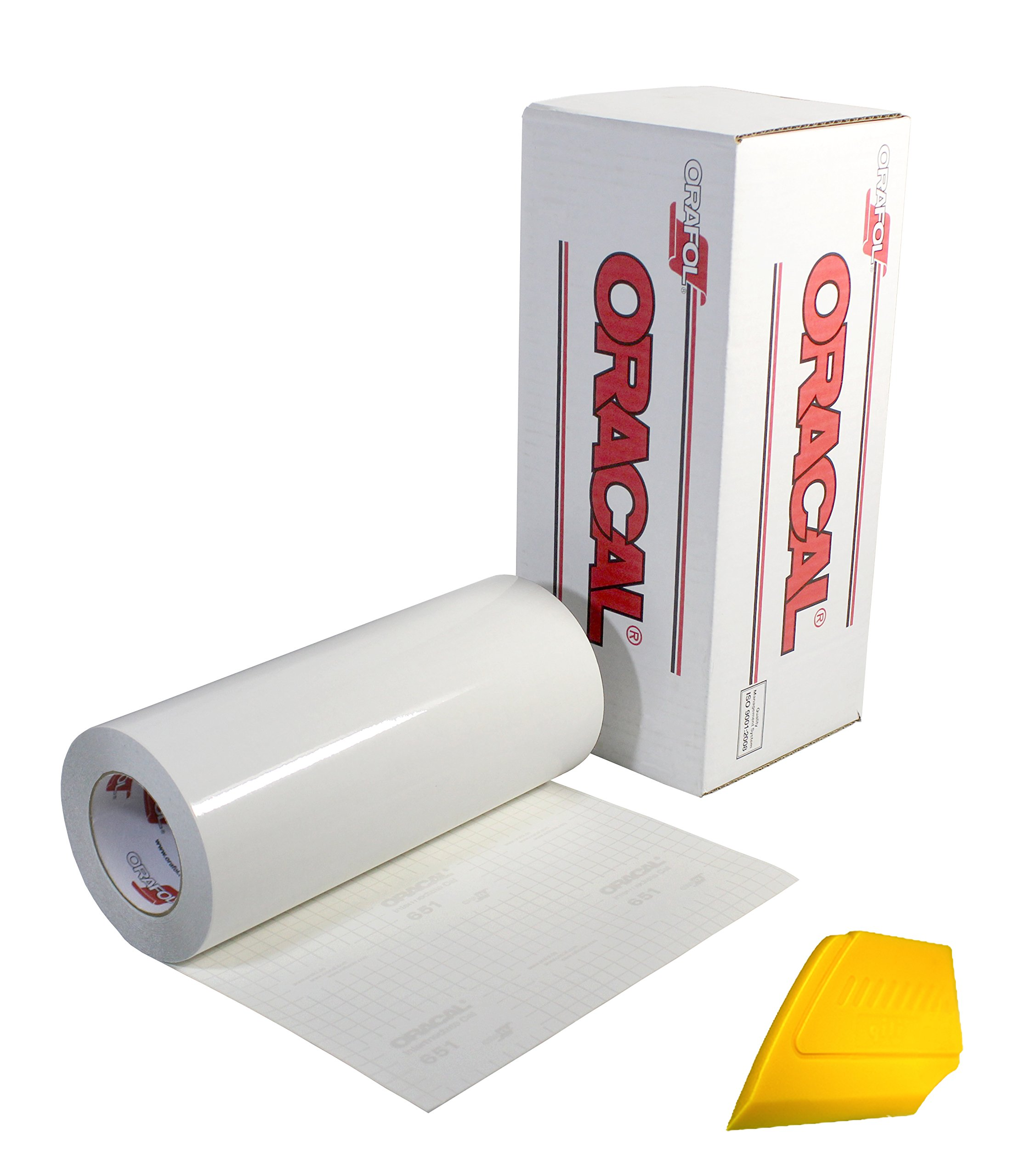 ORACAL Transparent Transfer Paper Tape Roll w/Hard Yellow Detailer Squeegee (100ft x 12'') by ORACAL
