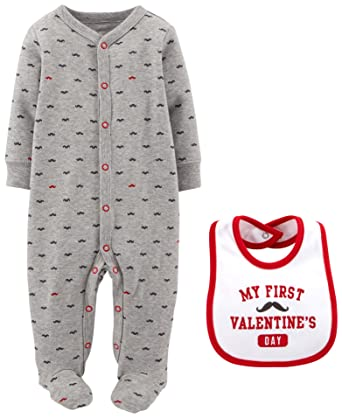 e8866fcdd Amazon.com  Carters Baby Boys  Sleep N Play with Bib  Clothing