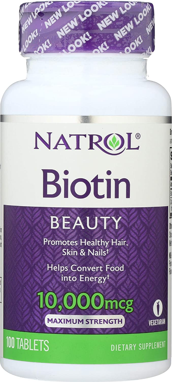 Biotina Vitamina 10000 mcg (100 Tablets)