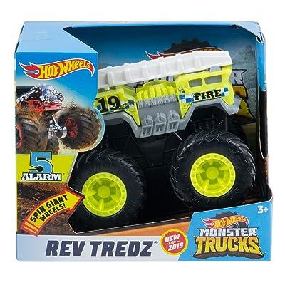Hot Wheels Rev Tredz 5 Alarm Monster Truck, 1:43 Scale: Toys & Games