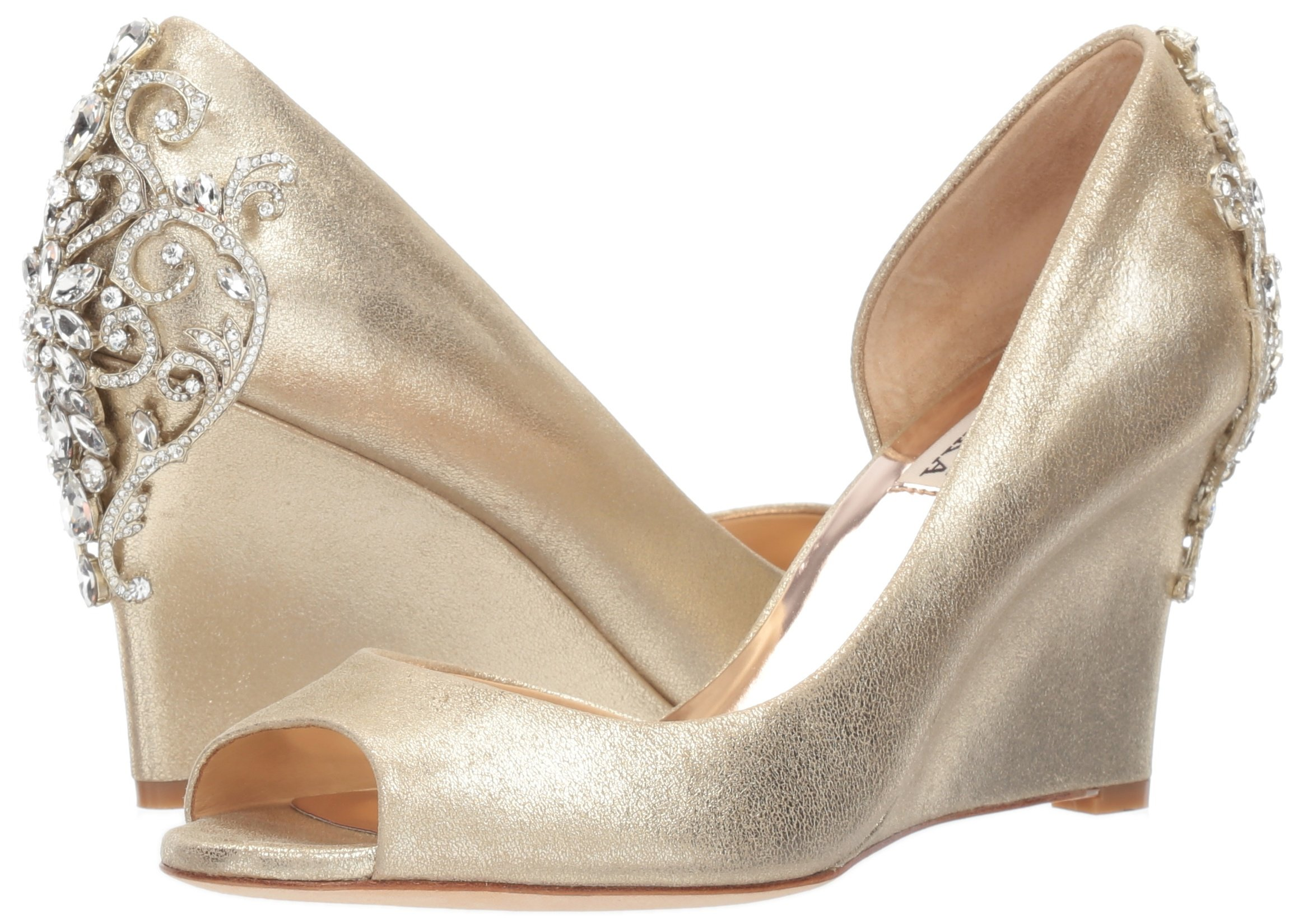 Badgley Mischka Women's Meagan II Pump, platino_929, 7 M US by Badgley Mischka (Image #6)