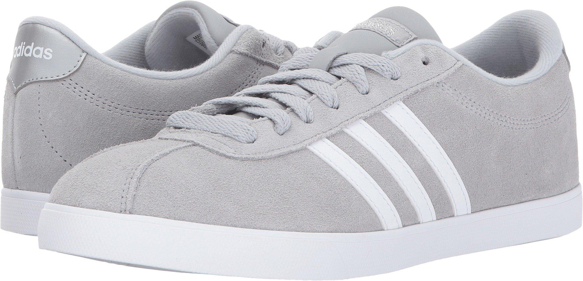 adidas Women's Shoes | Courtset Sneakers, Light Onix/White/Metallic Silver, (7.5 M US)