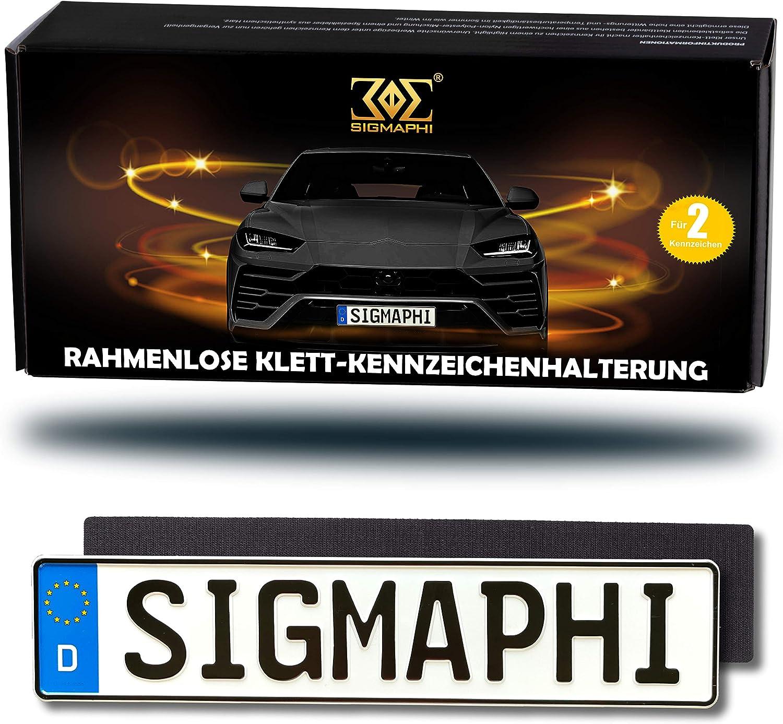 Sigmaphi Klett Kennzeichenhalter Rahmenlos 2 X Original Nummernschildhalterung Auto Set Rahmenlose Kennzeichenhalter Österreich Klett Kennzeichen Kfz Kennzeichenhalter Klett Auto