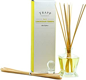 Trapp Fragrances Reed Diffuser Set, No. 10 Lemongrass Verbena, 4.5 Ounce