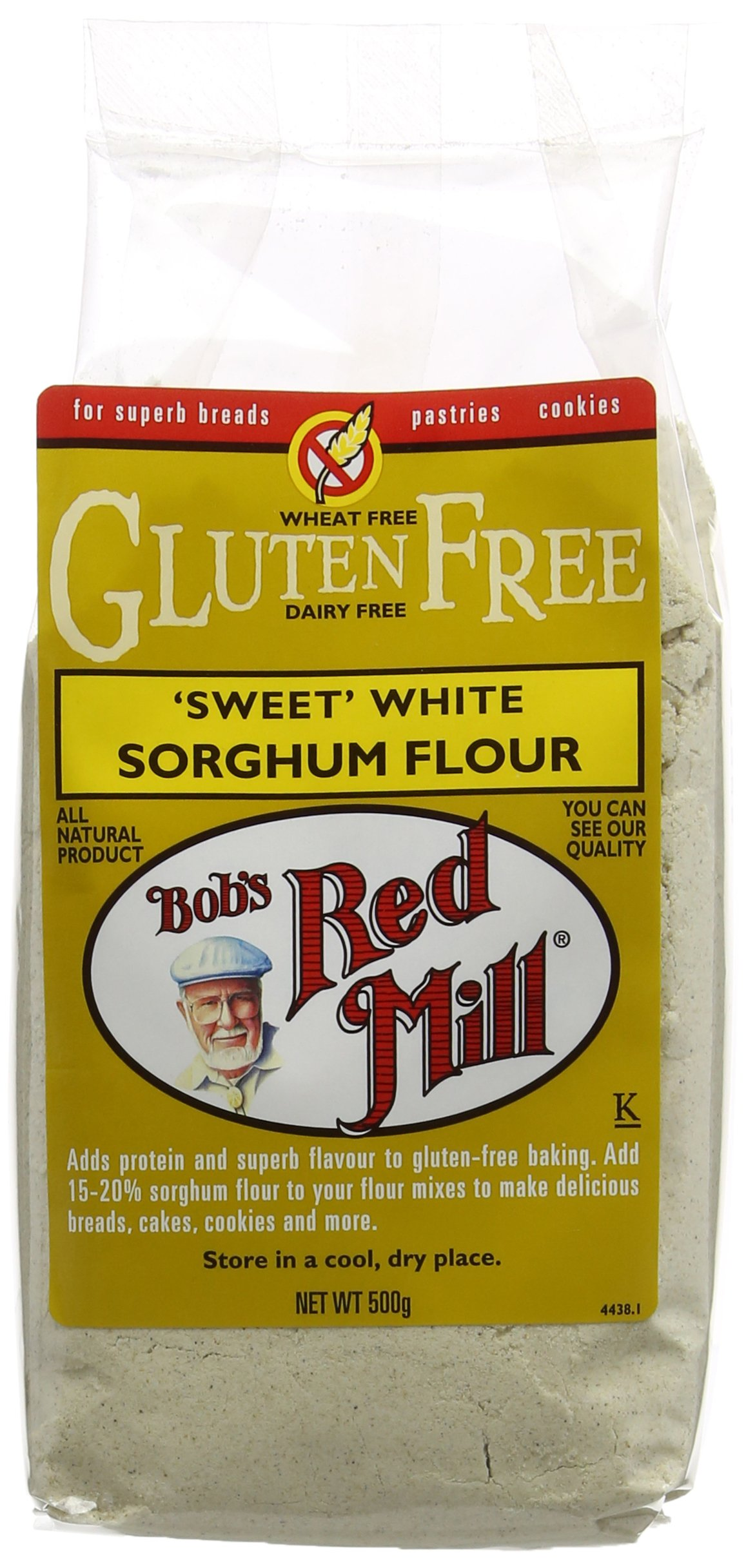 Bob's Red Mill Gluten Free Whole Grain Sorghum Flour 500 g (Pack of 4)