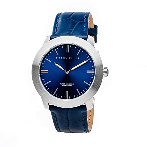 Perry Ellis Slim Line Unisex 42 mm reloj de cuarzo 07001 - 01: Amazon.es: Relojes