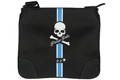 a260c210a Philipp Plein sac homme bandoulière en cuir blu: Amazon.fr ...