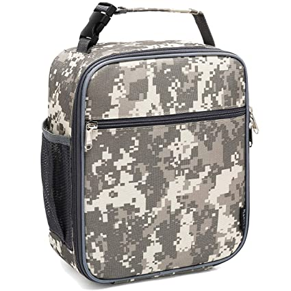 2a12a2af0622 FlowFly Lunch box Insulated Lunch Bag Adult Lunchbox Reusable Cooler Tough  & Spacious Tote Bag Designed for Men,Adults,Women,Kids,Digital Camo