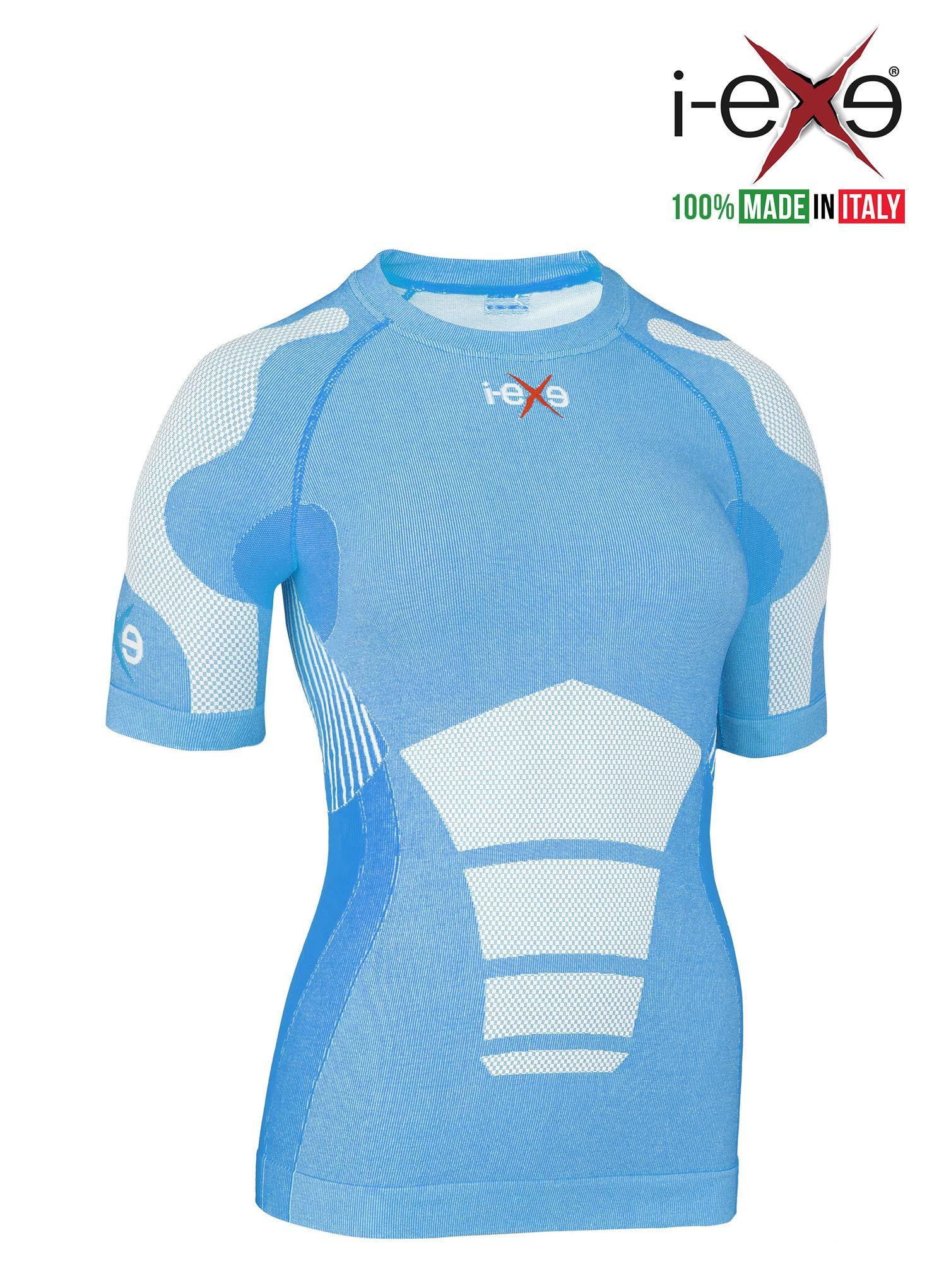 I-EXE Womens Compr Shirt CLR: Blue, SZ: S