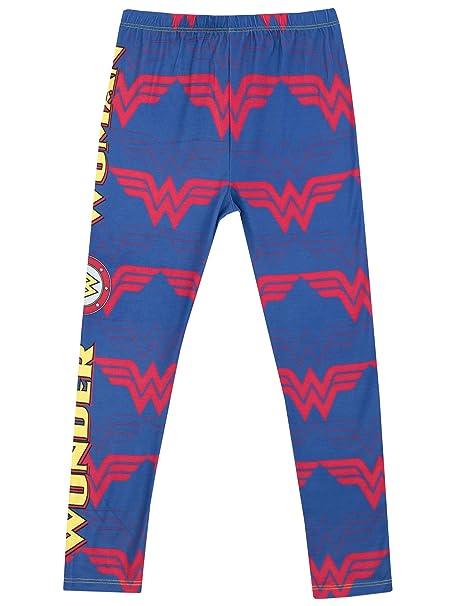 Wonder Woman - Leggings para Niñas - La Mujer Marauilla - 5 - 6 Años