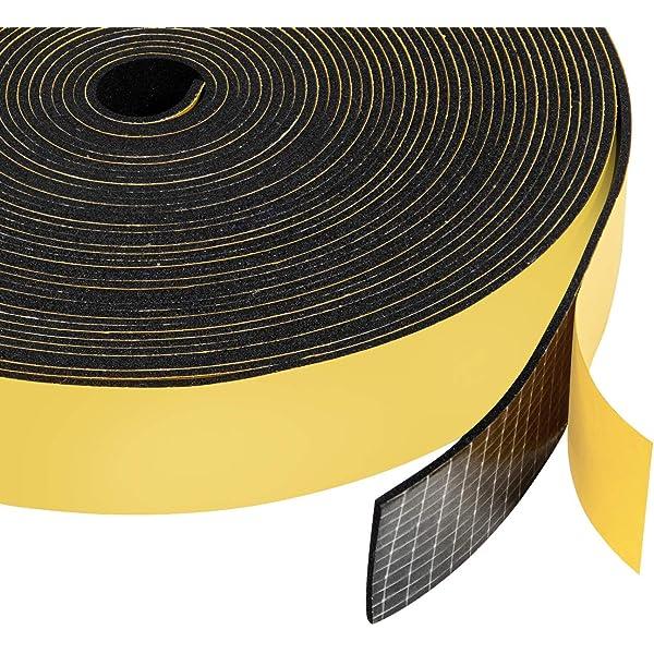 NEOPRENE RUBBER Self Adhesive Strip 3//4 wide x 1//4 thick x 33 feet long