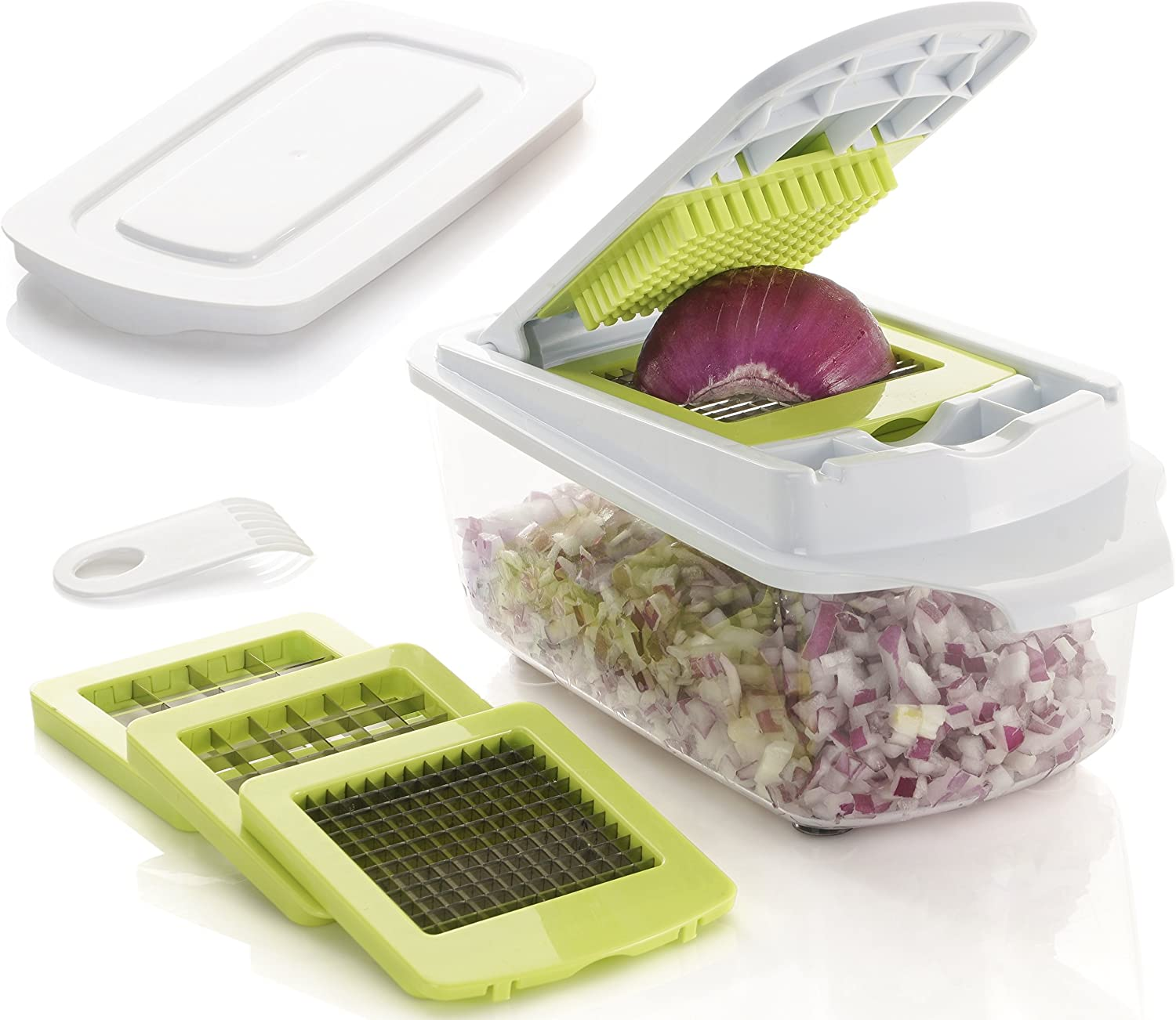 Brieftons QuickPush Food Chopper: Strongest & 200% More Container Capacity