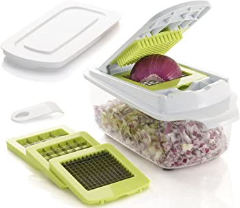 Brieftons Vegetable Chopper with 3 Dicing Blades