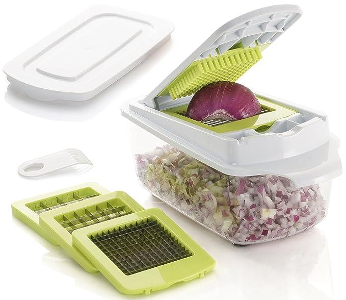 3 opinioni per Brieftons, QuickPush, taglia alimenti, White Green, 3 Blades