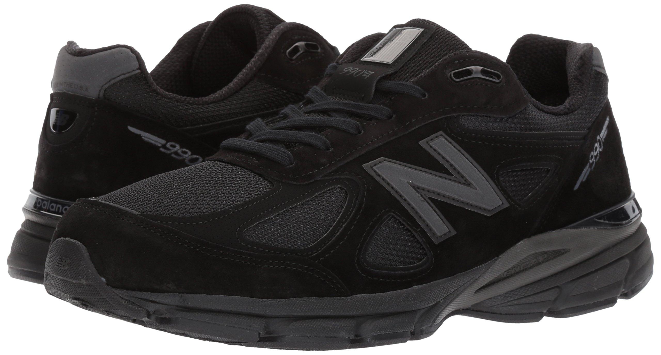 New Balance Men's 990V4 Running Shoe, Black/Black, 11 2E US by New Balance (Image #6)
