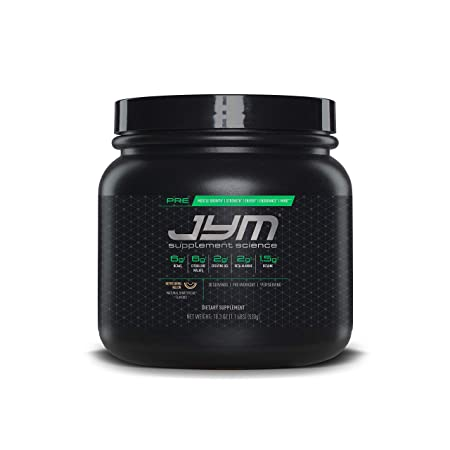 JYM Pre Workout Supplement Science - 520 g (1.1LBS) BCAAs at amazon