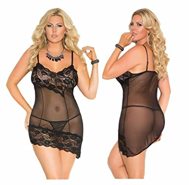 31fd11bb2cf SEXY EMPORIUM - PLUS SIZE Lingerie Chemise Babydoll Sexy Nightie Dress