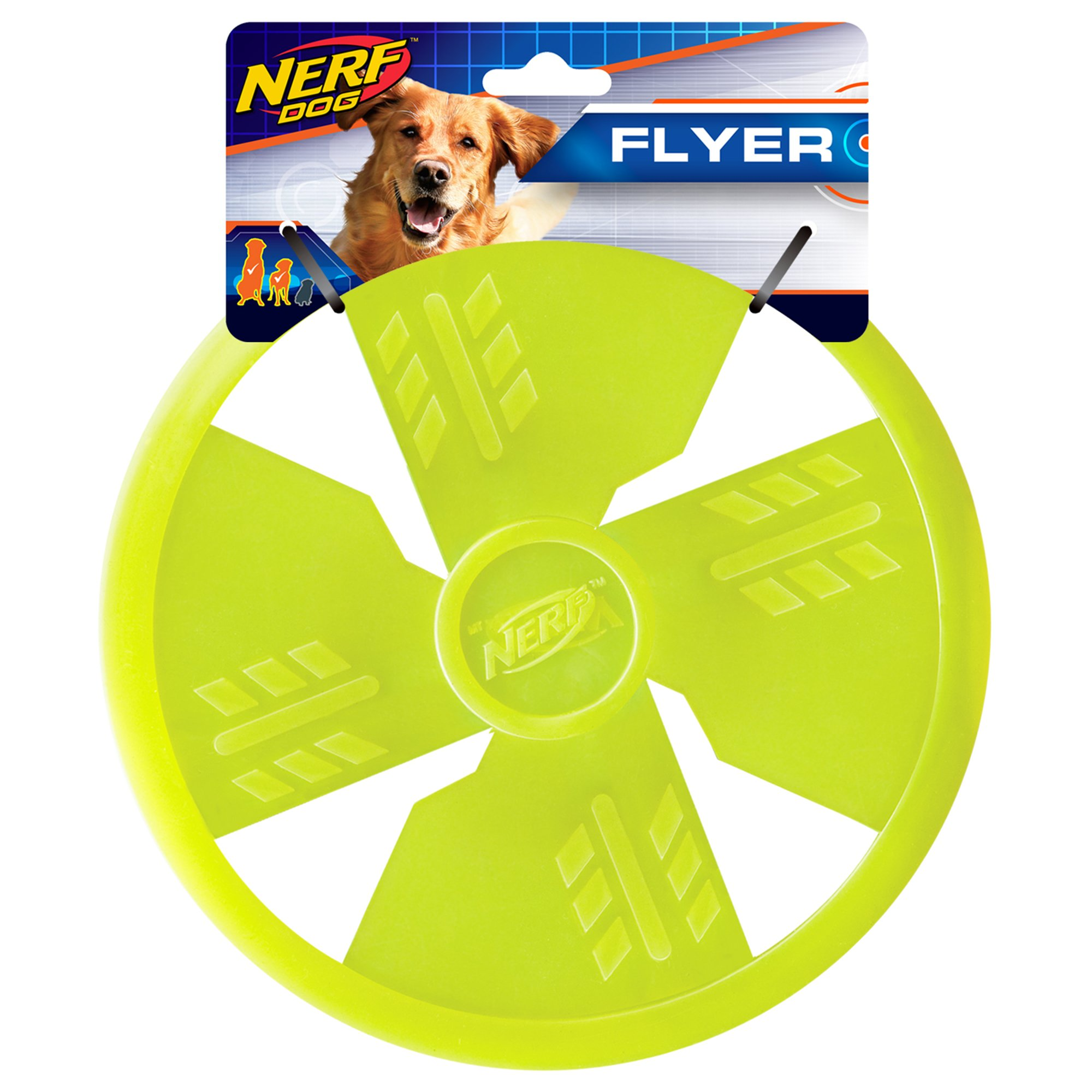 Nerf Dog TPR Float Flyer Flying Disc Dog Toy, Large, Green