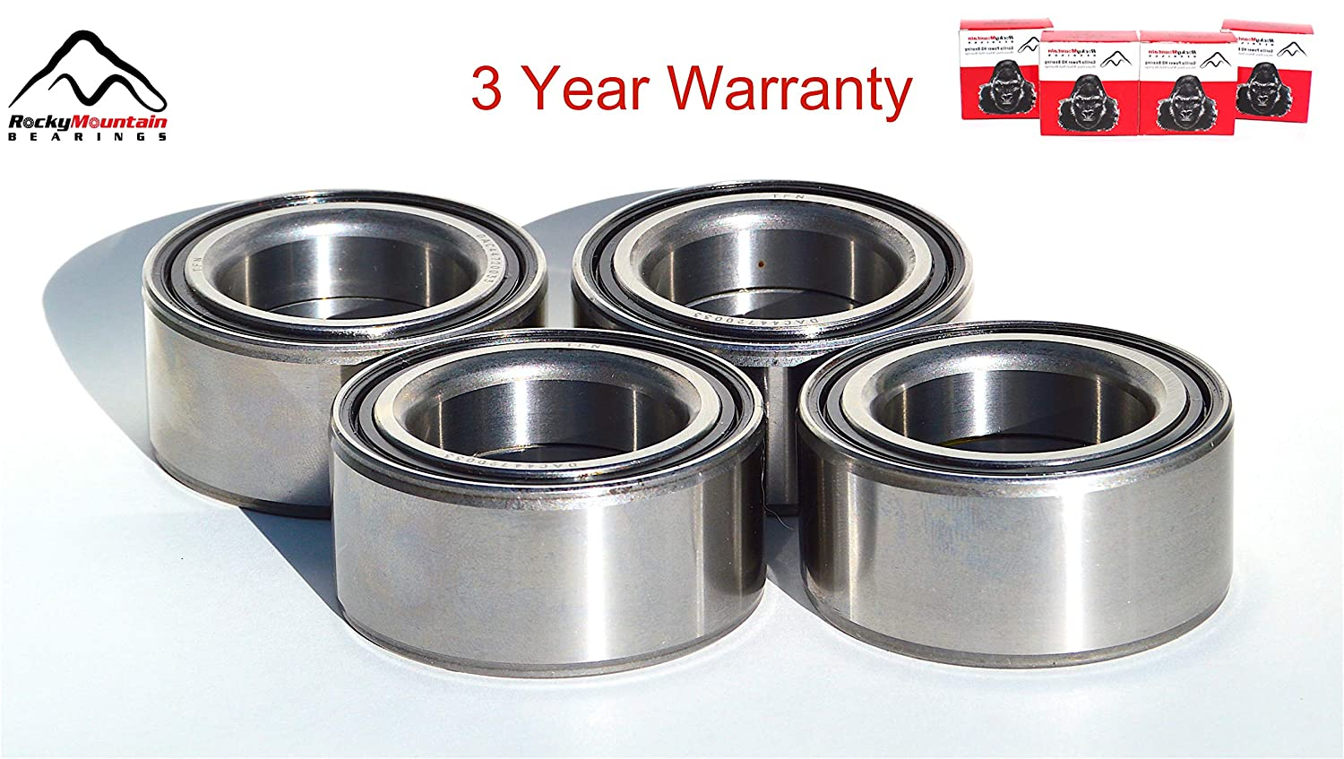 Exceeds OEM Polaris Ranger 700 500 XP EFI 6x6 2x4 4x4 Compatible Front and Rear Wheel Bearings