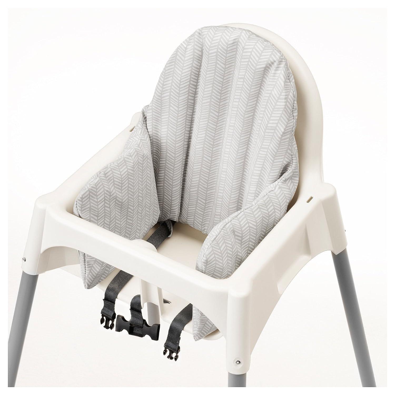 IKEA ANTILOP Trona con bandeja, cinturón de seguridad, blanco, Plata Color y Antilop Trona blanco completo con cojín de Ikea: Amazon.es: Bebé