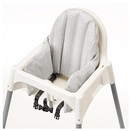 IKEA ANTILOP Trona con bandeja, cinturón de seguridad, blanco, Plata Color y Antilop