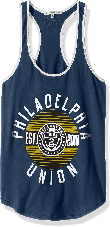 XX-Large MLS Philadelphia Union Womens Womens Ringer Tank Top Non//Sun