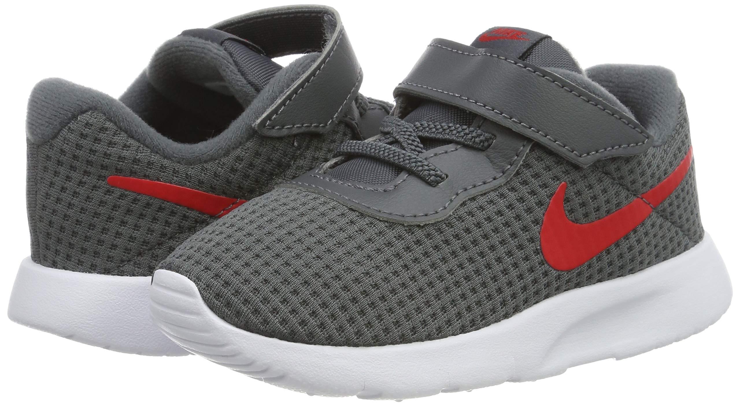 Nike Kid's Tanjun Running Shoe (7 M US Toddler, Dark Grey/University Red/White) by Nike (Image #5)