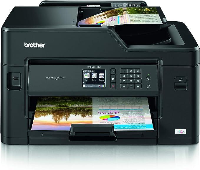 Brother Impresora multifunción 3 en 1 de inyección de Tinta Negro MFC-J5335DW: Amazon.es: Informática
