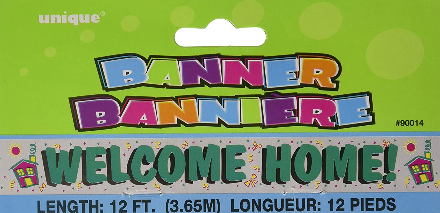 12ft Foil Welcome Home Banner