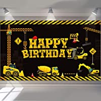Construction Backdrop Dump Truck Birthday Background Boys Birthday Party Decoration Dump Truck Digger Zone Photo Booth…