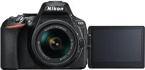 Nikon 1576 D5600 DX-Format Digital SLR with AF-P DX NIKKOR 18-55mm f/3.5-5.6G VR Lens, Black