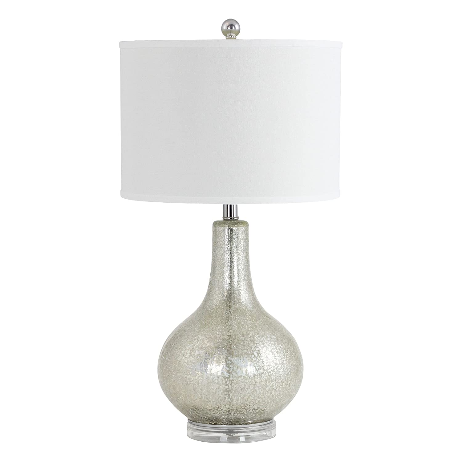 Amazon Com Aspire Caressa Antique Mercury Glass Table Lamp Silver