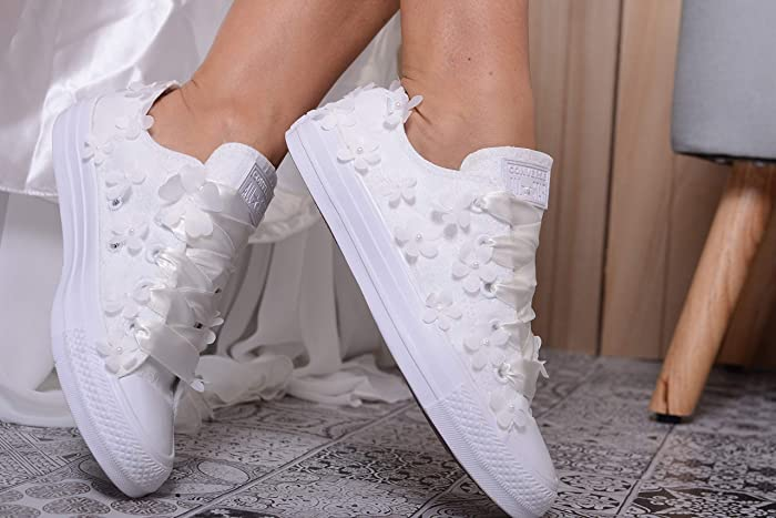 Ivory Wedding Trainers For Bride