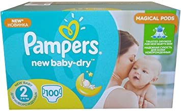 100 Couches Pampers New Baby Dry Taille 2 Amazon Fr Hygiene Et