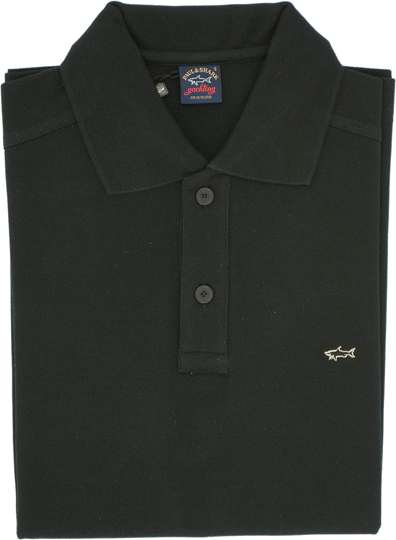PAUL & SHARK Polo, Informal, Regular, algodón Negro S: Amazon.es ...
