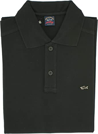 Paul & Shark Polo, informal, regular, algodón Negro S: Amazon.es ...