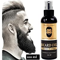 Grandeur Mooch And Beard Oil For Men For Thicker And Longer Beard- 100ml with Vitamin E and Argan Oil