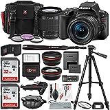 Canon EOS Rebel SL2 DSLR Wi-Fi Camera with EF-S 18-55mm STM Lens (Black) Bundle w/Flash + Lenses + Filters + 32&16GB + Xpix Tripods & Cleaning Kit