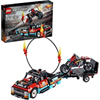 LEGO Technic 42106 Stunt Show Truck and Bike Building Kit (610 Pieces)