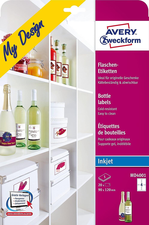 Avery Bottle labels MD4001