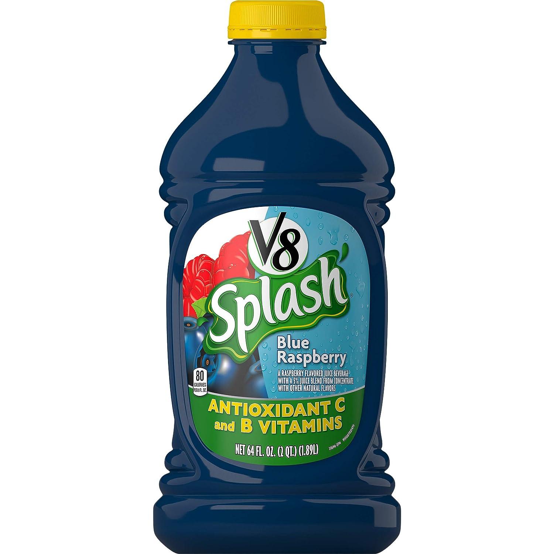 V8 Splash Blue Raspberry, 64 oz. Bottle (Pack of 6)