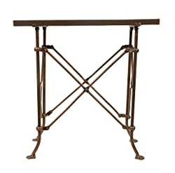 Creative Co-Op DA0124 Metal Table with Bronze Finish
