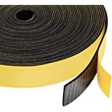 Yotache Neoprene Rubber Foam Tape 1 Inch Wide x 1/16 Inch Thick, Adhesive High Density Close Cell Foam Strips Gasket for Door