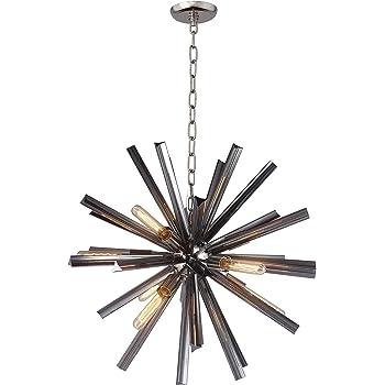Deluxe Lamp Mid Century Sputnik Filament Chandelier Aged