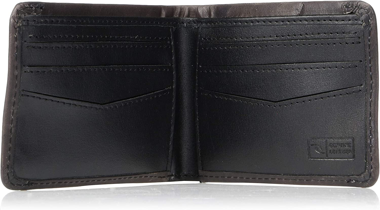 1SZ black Rip Curl Mens Supply RFID Slim Wallet