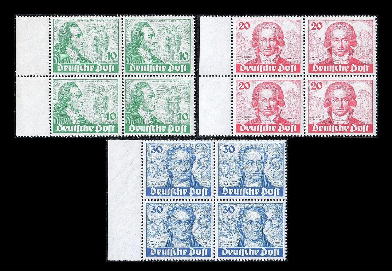 Goldhahn Berlin Nr. 61-63 postfrisch  Viererblocksatz Plattenfehler 61 I enthalten Briefmarken für Sammler
