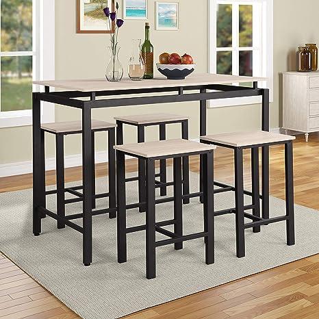 Amazon.com: P Purlove - Juego de mesa de comedor de 5 piezas ...