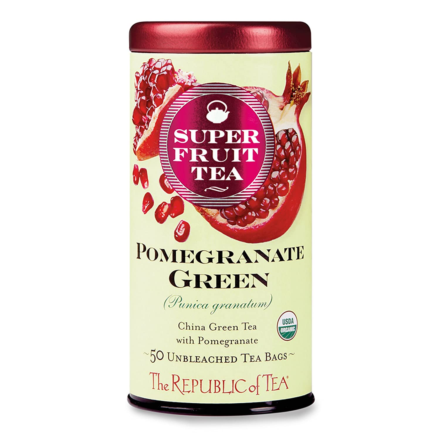 The Republic of Tea, Pomegranate Green Tea, 50-Count