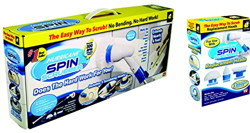 Hurricane Spin Scrubber Cordless Rechargeable Power Scrubber
