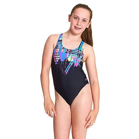 57940b9cc2 Zoggs Girls   Labrynth Rowleeback One Piece Swimsuit  Amazon.co.uk ...